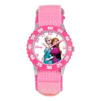 """Disney® Children's 32mm Anna and Elsa """"Frozen"""" Watch with Pink Strap"""