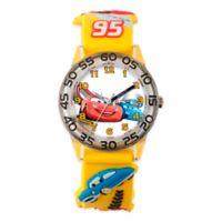 "Disney® Children's 32mm ""Cars"" Lightning McQueen and Friends Plastic Watch in Yellow"