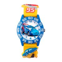 """Disney® Children's 32mm """"Cars"""" Raoul 3D Plastic Watch in Yellow"""