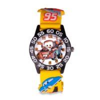 "Disney® Children's 32mm ""Cars"" Mater 3D Plastic Watch in Yellow"