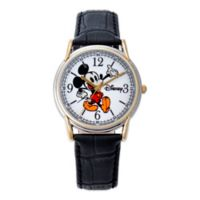 Disney® Men's Mickey Mouse 35mm Cardiff Watch in Two-Tone Alloy with Black Strap