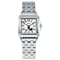 Disney® Ladies' 30MM Mickey Mouse Square Watch in Stainless Steel