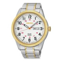 Seiko Men's Two-Tone Solar Watch in Goldtone/Silvertone Stainless Steel