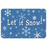Bungalow Flooring Let It Snow 18-Inch x 27-Inch Floor Mat