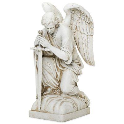 Joseph's Studio Kneeling Male Angel Garden Statue