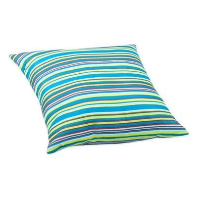 Large Puppy Outdoor Pillow In Multicolor Stripe