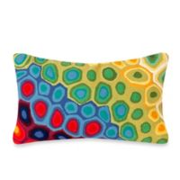 Liora Manne Oblong Outdoor Throw Pillow in Pop Swirl Multi