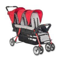Foundations® Trio Sport™ Splash of Color 3-Passenger Stroller in Red