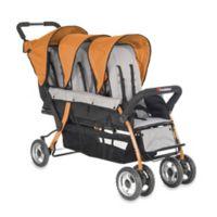 Foundations® Trio Sport™ Splash of Color 3-Passenger Stroller in Orange