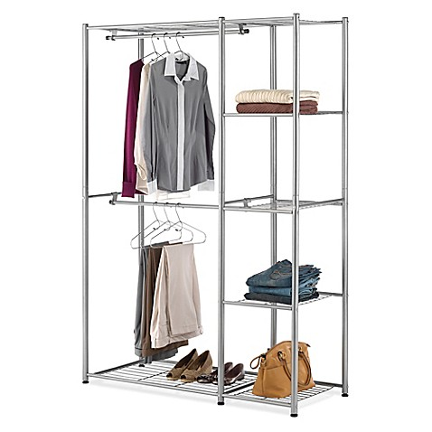 Perfect Whitmor Metal Double Rod Closet