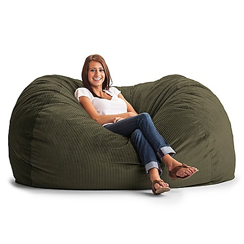 Comfort Research XL Wide Wale Corduroy Lounge Bean Bag Chair