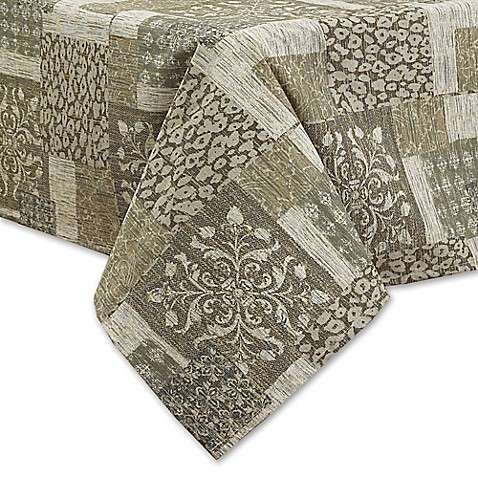 buy sinclair laminated fabric 60 inch x 120 inch oblong tablecloth in natural from bed bath beyond. Black Bedroom Furniture Sets. Home Design Ideas