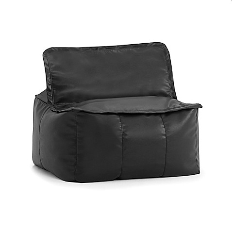 Lovely Comfort Research Big Joe Lux Zip It! Faux Leather Square Bean Bag Chair