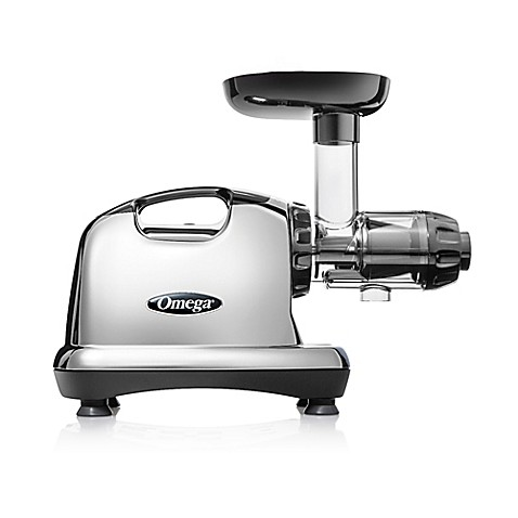Omega Slow Juicer Bed Bath And Beyond : Omega Model J8006 Nutrition Center HD Juicer in Chrome/Black - Bed Bath & Beyond