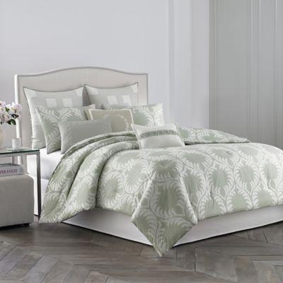 garden america outlet set shop green queen comforter gold light pd piece pem