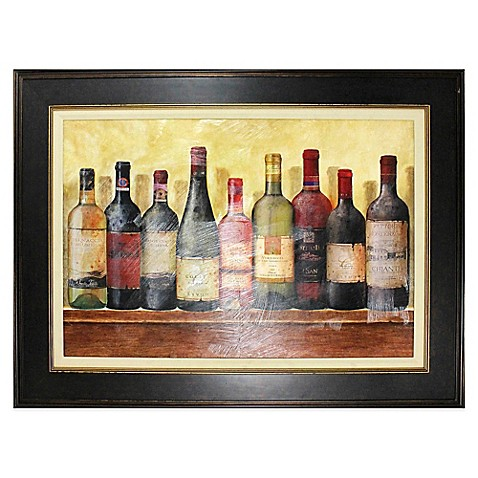 wine table framed wall art - bed bath & beyond