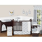 Sweet Jojo Designs Chevron 11-Piece Crib Bedding Set in Grey/White