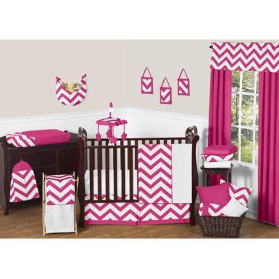 sweet jojo designs chevron crib bedding collection in pink and white u003e sweet jojo designs chevron
