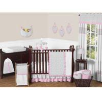 Sweet Jojo Designs Kenya 11-Piece Crib Bedding Set in Pink and Grey
