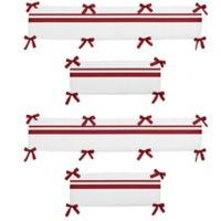 Sweet Jojo Designs Hotel Crib Bumper in White and Red