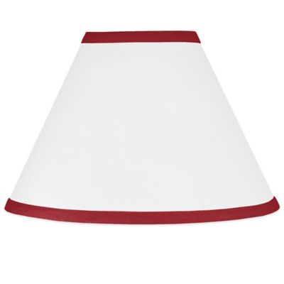 Buy red lamp shades from bed bath beyond sweet jojo designs hotel lamp shade in white and red aloadofball Image collections