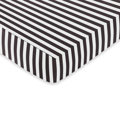 Lovely Sweet Jojo Designs Paris Fitted Crib Sheet In Black And White Stripe