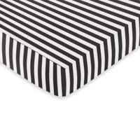 Sweet Jojo Designs Paris Fitted Crib Sheet in Black and White Stripe