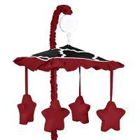 Sweet Jojo Designs Trellis Musical Mobile in Red/Black