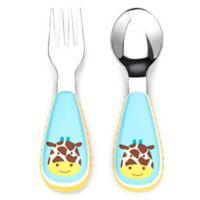 SKIP*HOP® Zootensils Little Kid Fork & Spoon in Giraffe