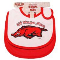University of Arkansas 2-Pack Infant Bib