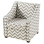 Tree House Lane Chevron Chair in Grey/White