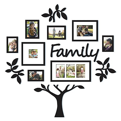 Wallverbs 13 Piece Quot Family Quot Tree Set In Black Bed Bath