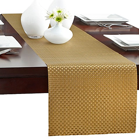 Bistro Woven Vinyl Table Runner Bed Bath Amp Beyond