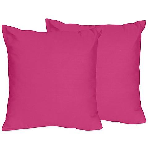 Sweet Jojo Designs Chevron Throw Pillows in Pink (Set of 2) - Bed Bath & Beyond