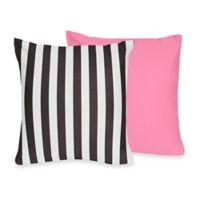 Sweet Jojo Designs Paris Reversible Throw Pillow