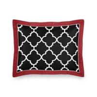 Sweet Jojo Designs Trellis Standard Pillow Sham in Red/Black