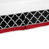 Sweet Jojo Designs Trellis Queen Bed Skirt in Red/Black
