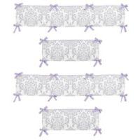 Sweet Jojo Designs Elizabeth Crib Bumper in Lavender/Grey