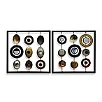 Metal Circle and Square 12  x 12  Wall Art