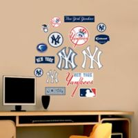 Fathead® MLB New York Yankees Logo Sheet Junior Wall Graphic