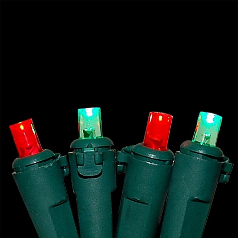 Buy 70 Count Mini Electric Led String Lights In Red Green