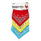 Mustachifier™ Bandana Bibs in Red/Yellow/Blue (Set of 3)