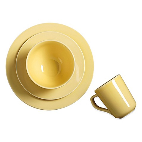Real Simple® Round Dinnerware in Buttercup  sc 1 st  Bed Bath u0026 Beyond & Real Simple® Round Dinnerware in Buttercup - Bed Bath u0026 Beyond