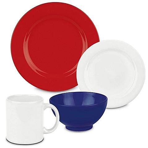 Waechtersbach Fun Factory 16-Piece Dinnerware Set in Red/White/Blue  sc 1 st  Bed Bath u0026 Beyond & Waechtersbach Fun Factory 16-Piece Dinnerware Set in Red/White/Blue ...