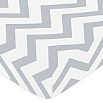 Sweet Jojo Designs Chevron Fitted Crib Sheet in Grey/White