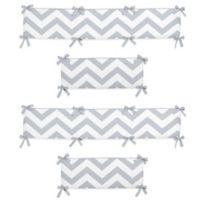 Sweet Jojo Designs Chevron Crib Bumper in Grey/White