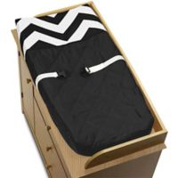 Sweet Jojo Designs Chevron Changing Pad Cover in Black and White