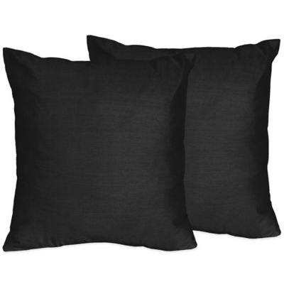 Delicieux Sweet Jojo Designs Chevron Throw Pillow In Black (Set Of 2)