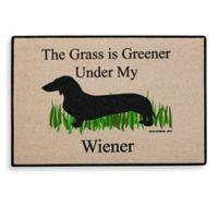 """""""The Grass Is Greener Under My Wiener"""" Door Mat"""