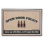 Open Door Policy Beer Door Mat